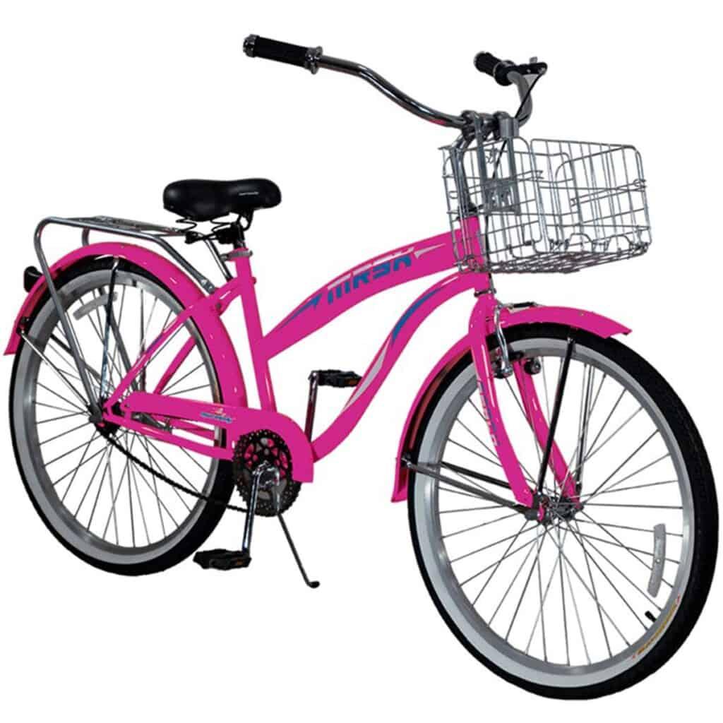 Bicicleta de Pedal con Cesta para cuba