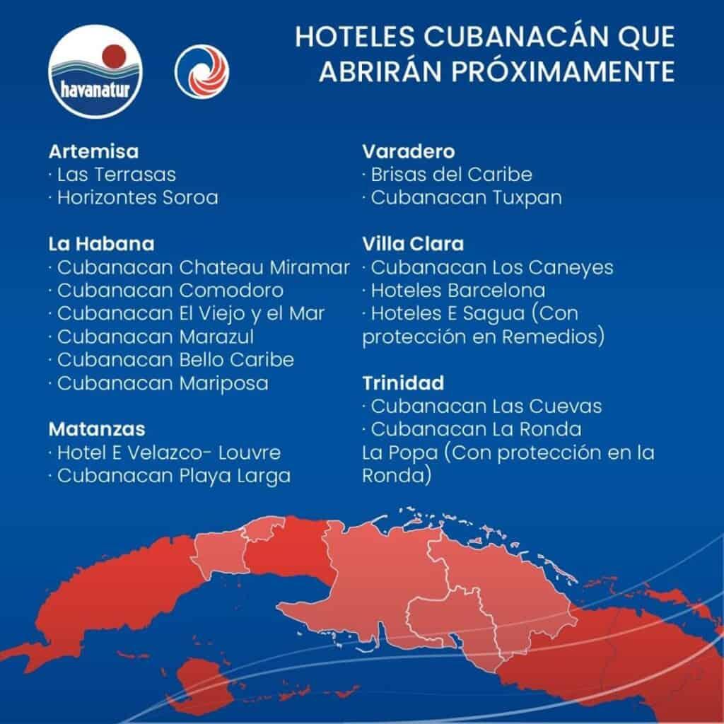 Hoteles de cubanacan que abriran en cuba