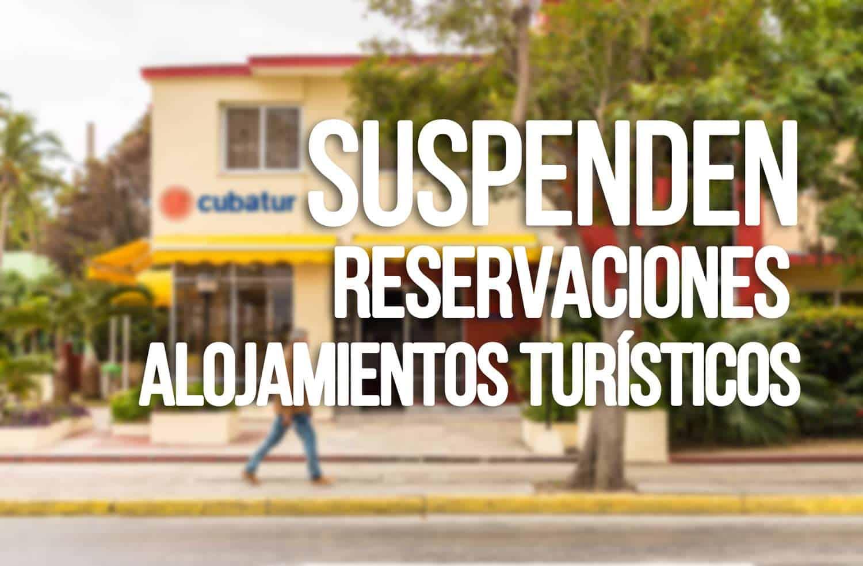 Suspension de Reservas para Alojamientos Turisticos