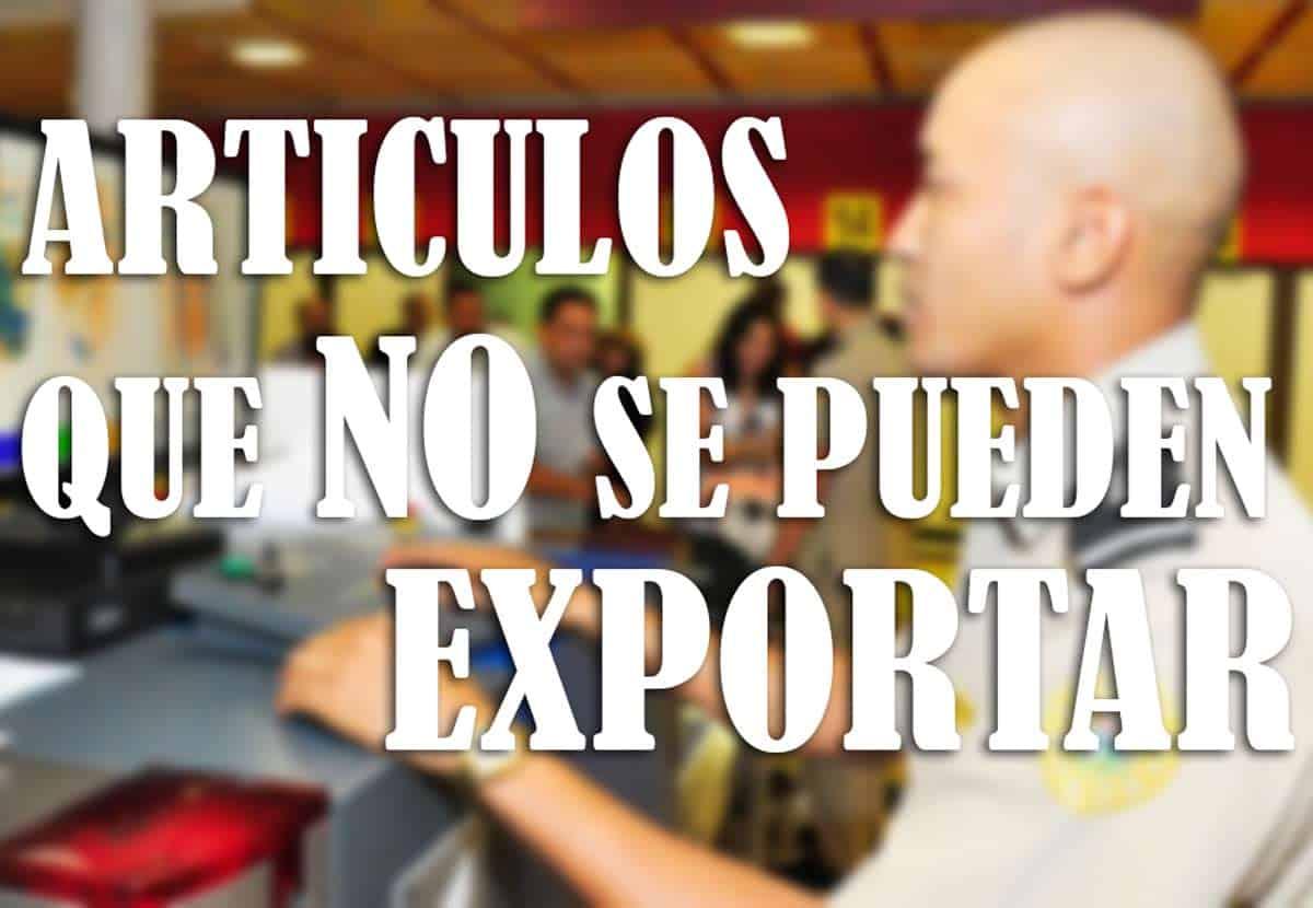 aduana de cuba no se pueden exportar