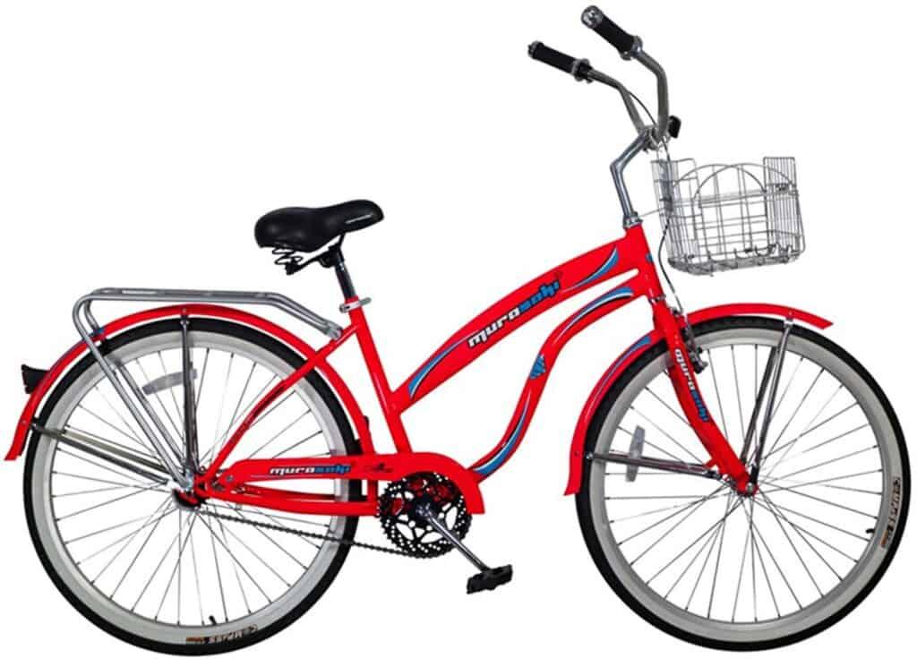 bicicleta de pedal mujer con canasta para cuba