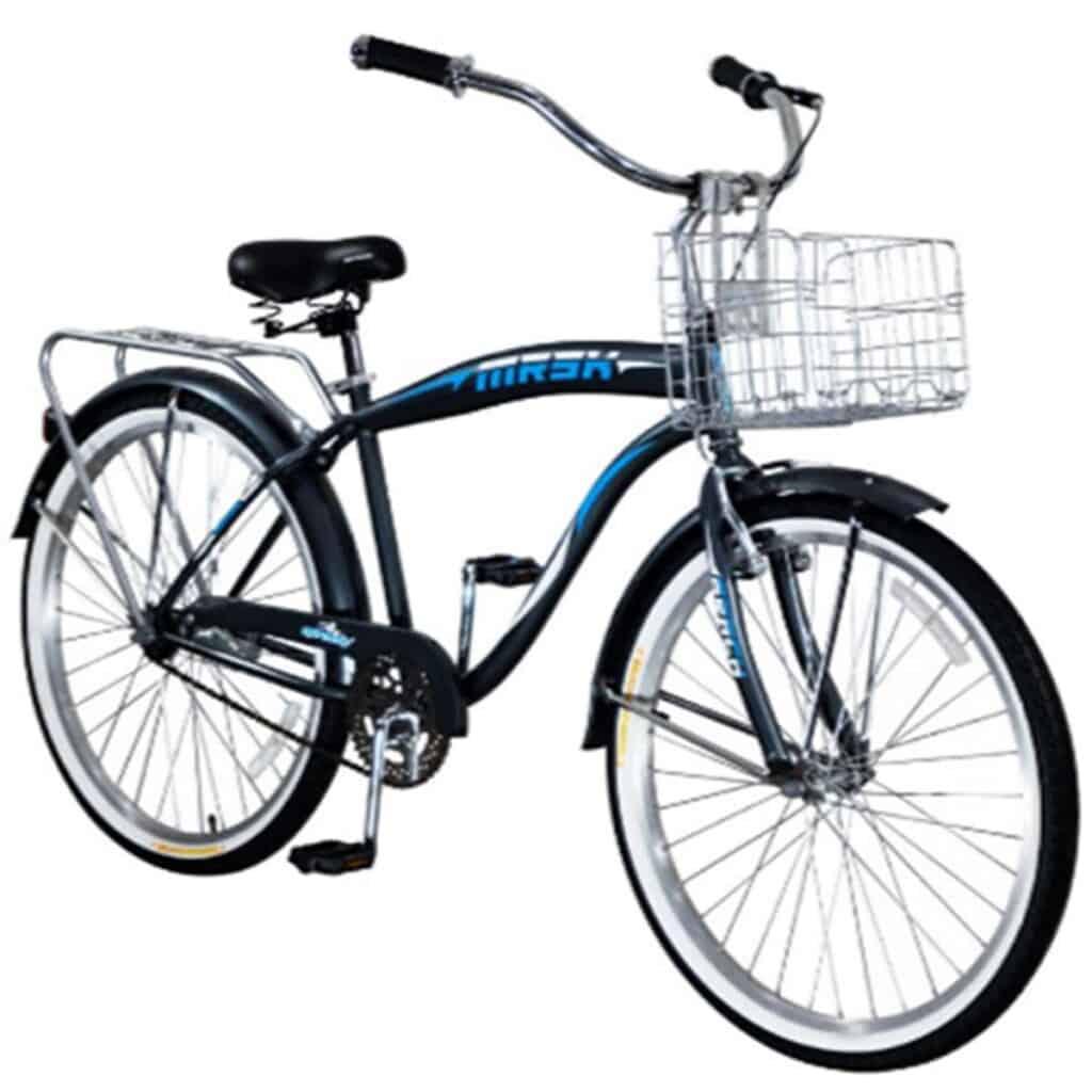 bicicleta pedal de hombre con canasta
