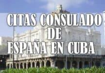 cita consulado espanol en cuba