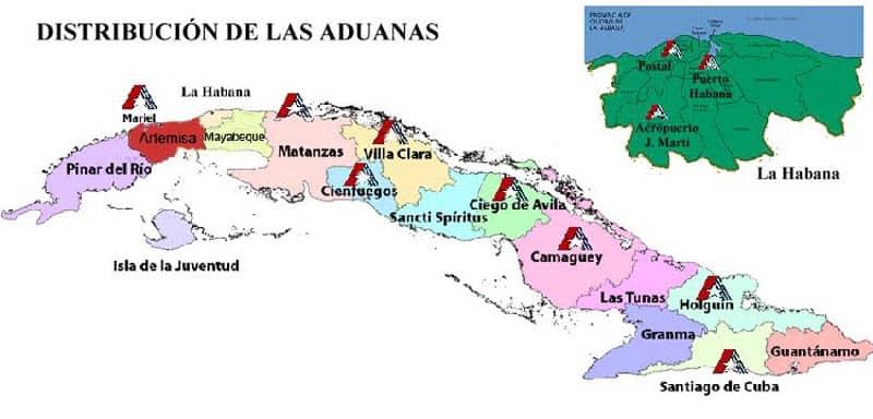 distribución aduanas cuba