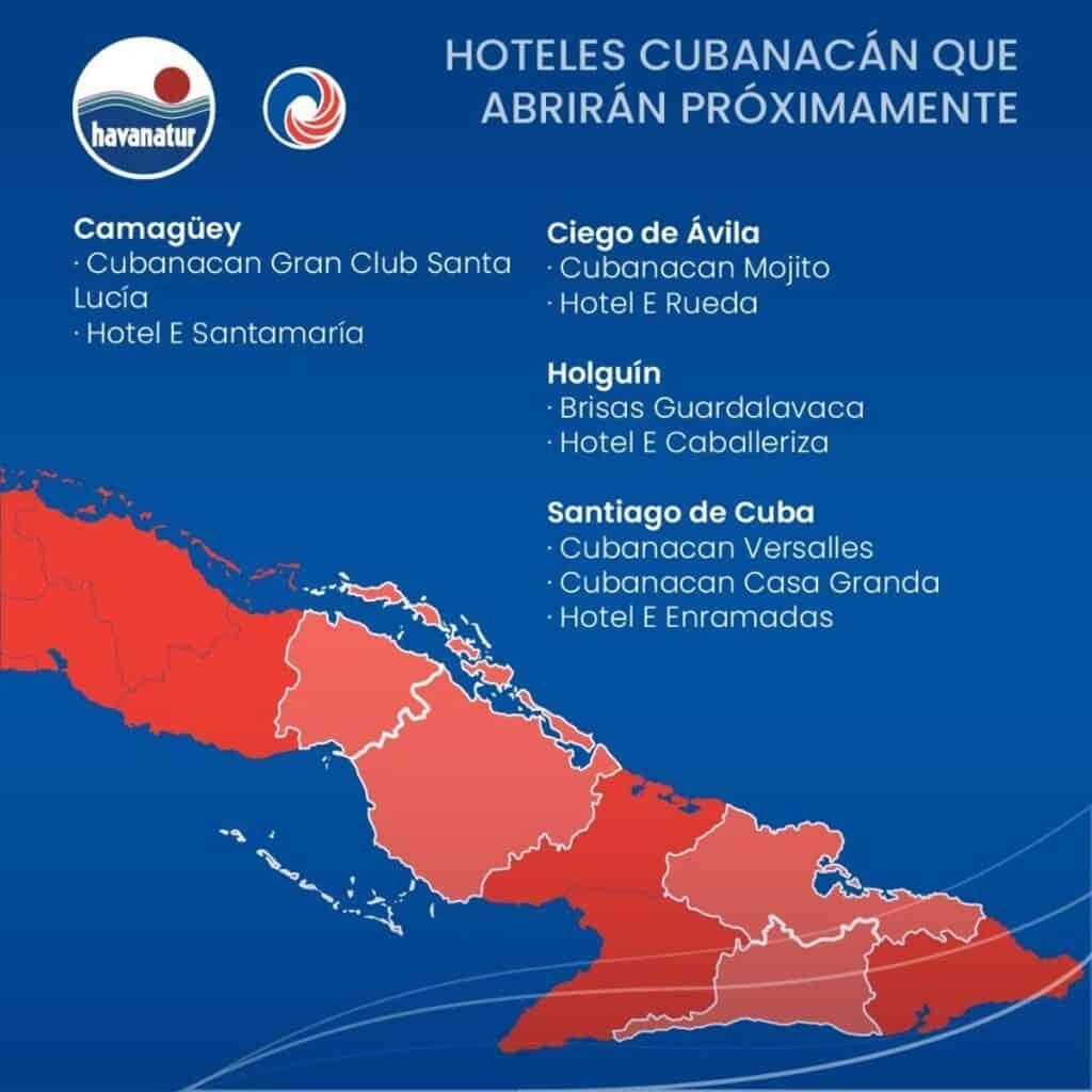 hoteles cubanacan que reabriran en cuba