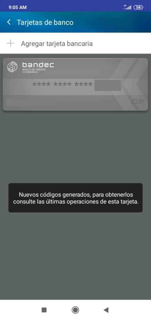 introducir tarjeta bancaria