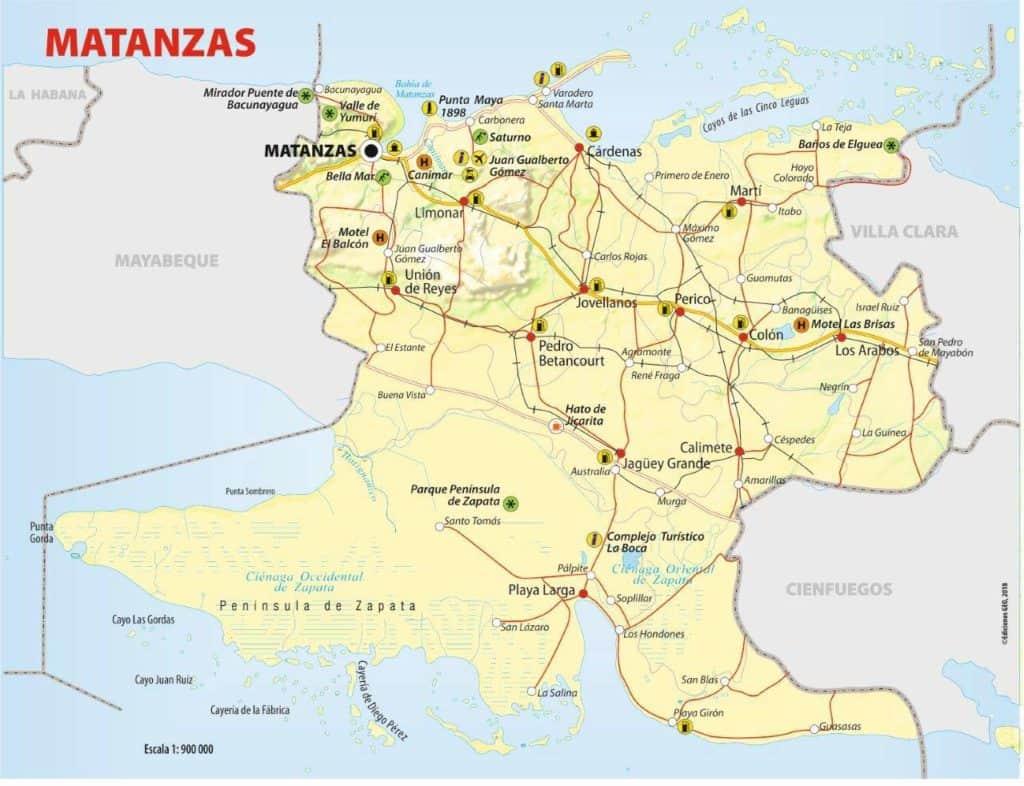 mapa matanzas