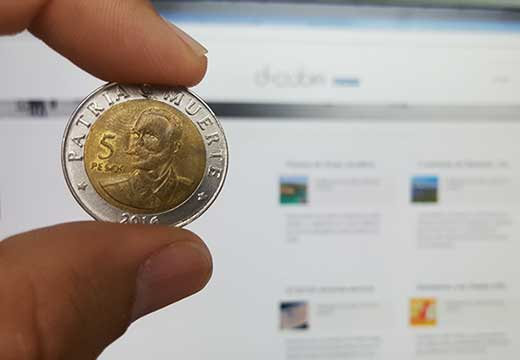 moneda de cinco pesos cubanos