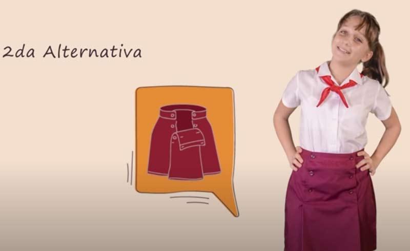 nuevo uniforme escolar primaria cuba