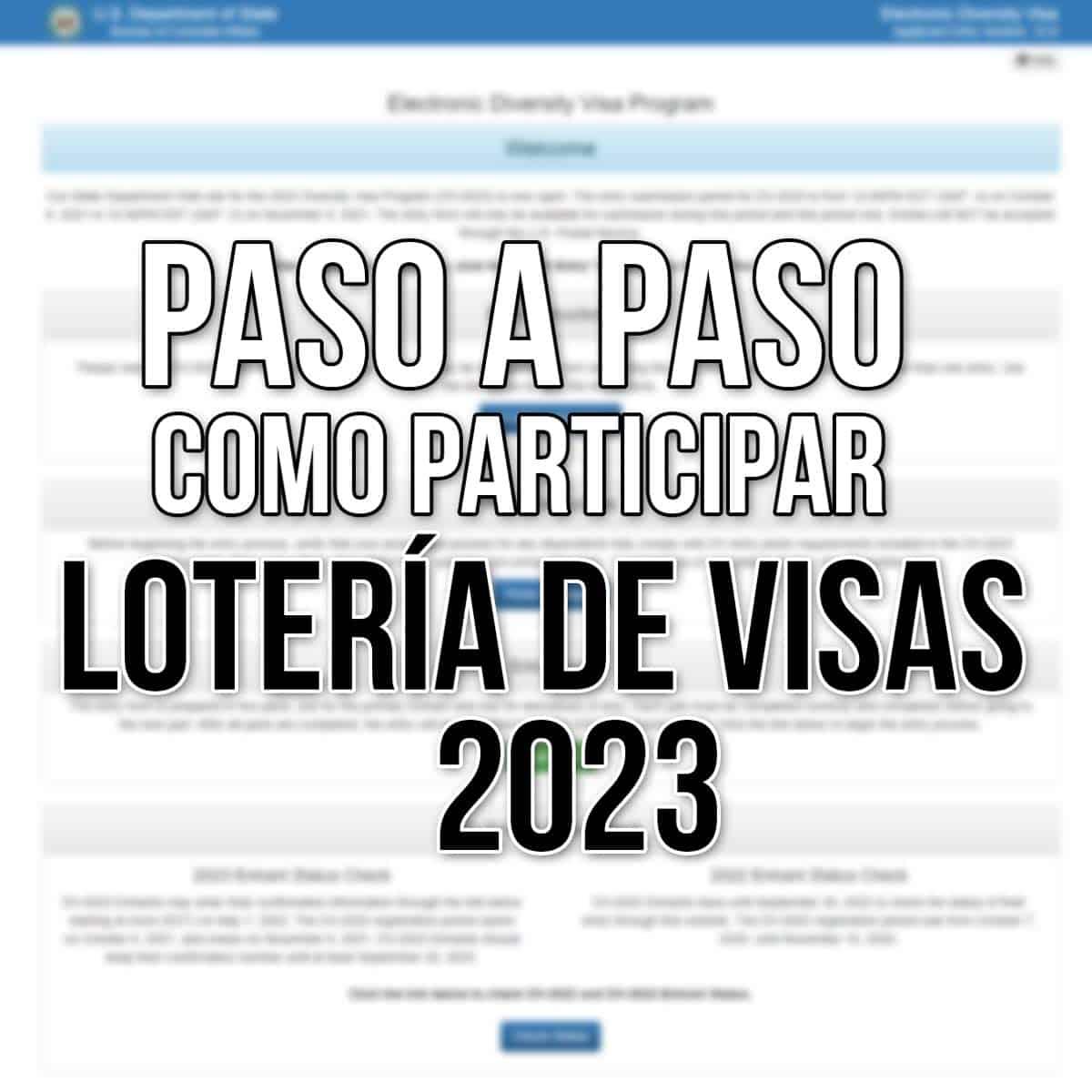 participar lotería de visas 2023