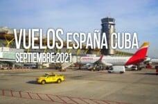 vuelos españa cuba septiembre 2021
